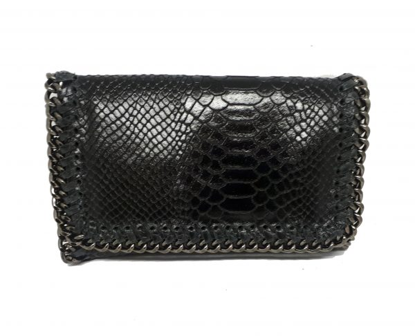 party snake handbag black