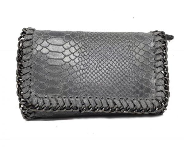 party snake handbag leather