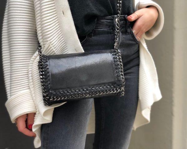 leather chains handbag