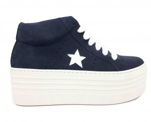super star blue sneaker