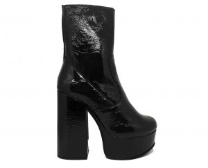 CHEALSEA PLATFORM PATENT LEATHER ANKLE BOOT