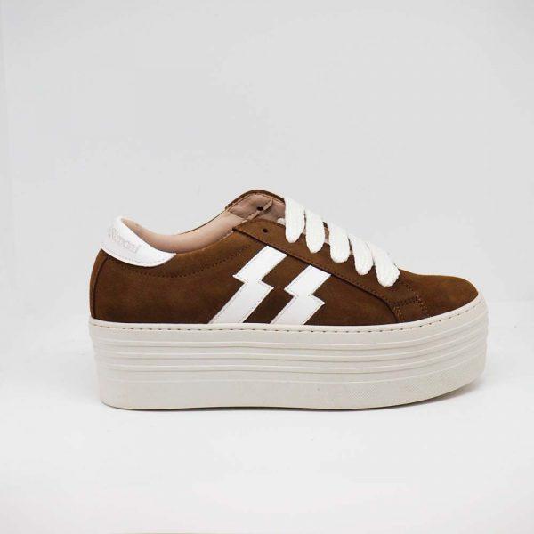 Sneaker de cuero para mujer