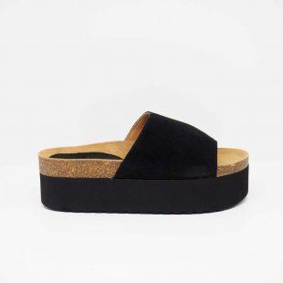 Sandalia de ante negra