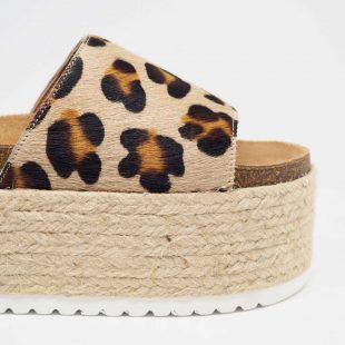 Sandalias leopardo con plataforma