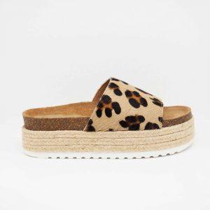 Sandalia leopardo con plataforma