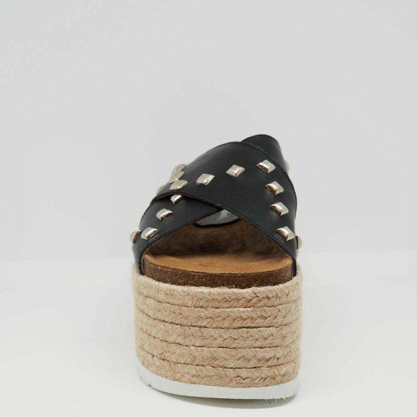 Sandalia con plataforma de esparto