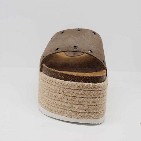 Sandalia con plataforma de yute