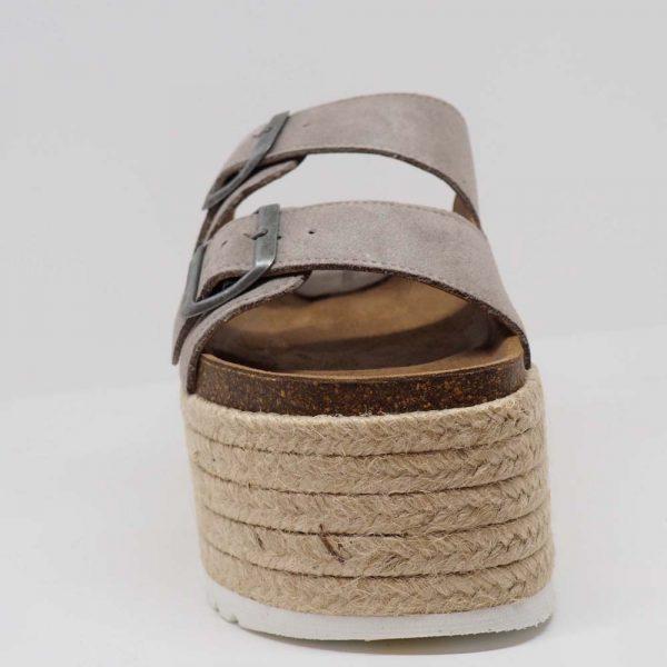 Sandalia de yute para mujer