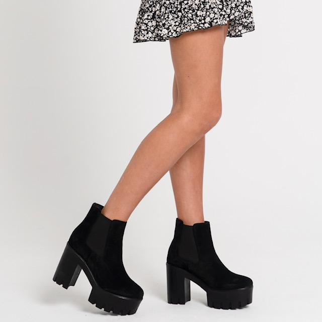 LONDON BLACK ANKLE BOOT