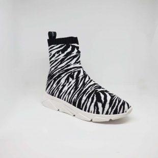 sneaker sock zebra