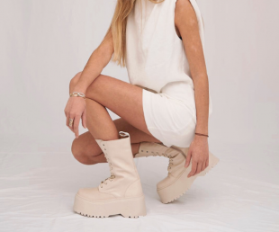 high beige boots