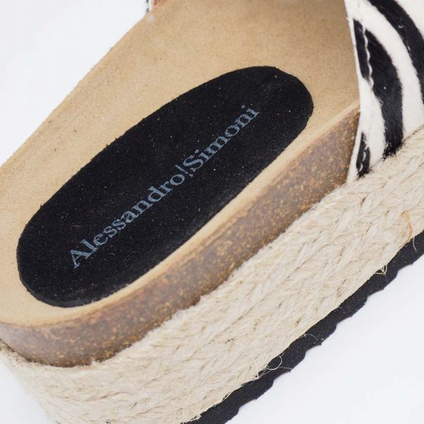 Sandalia de esparto para mujer