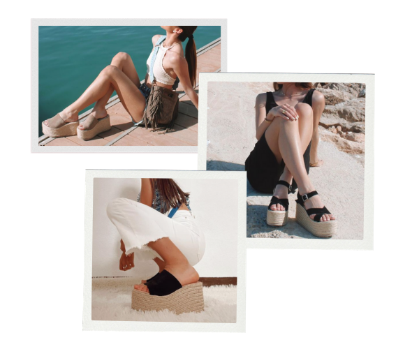sandalias plataforma para primavera y verano