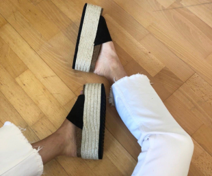 sandalias negras