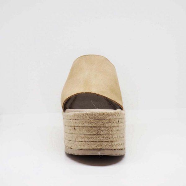 Sandalia de esparto con plataforma para mujer