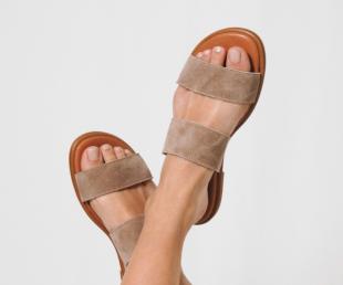 sandalias planas mujer ante piel Alessandro Simoni para verano
