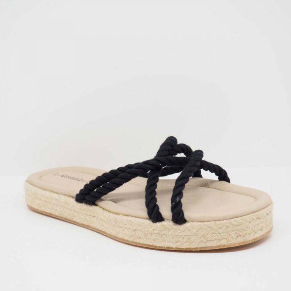 Sandalia de esparto con cuerdas para mujer